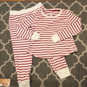 Candy cane striped pajamas S